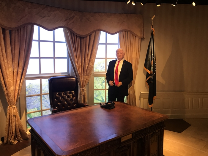 President Trump in wax.