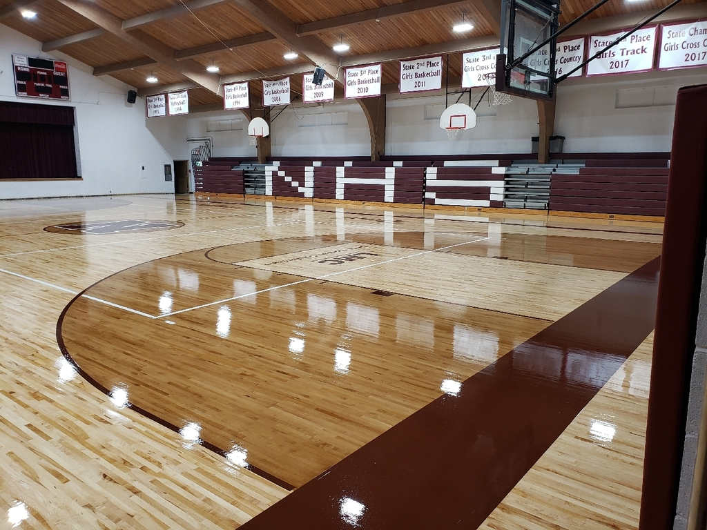 Gym floor almost done
