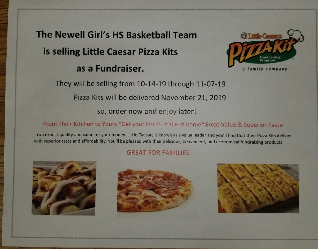Pizza sales have begun for the GBB team