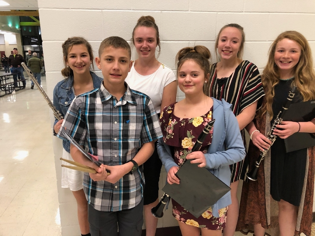 Congratulations to the Honor. Band students and great concerts! Hailey McCAnn, Bailee Yule, Megan Jackson, Kianna Miller, Josh Stomprud and Maddy Maillioux