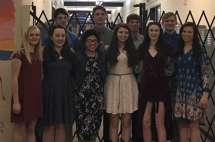 2018 National Honor Society Inductees