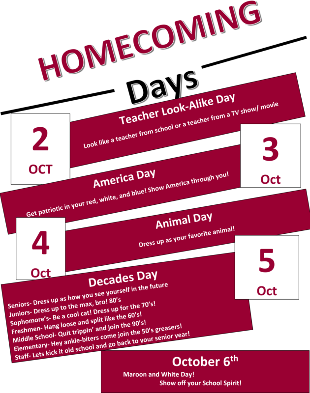 2017 Homecoming Spirit Days