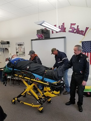 HS Health Class get visit from local EMT