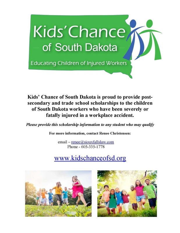 Kids' Chance of South Dakota Scholarships