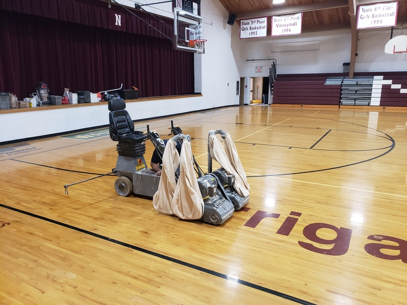 Gym Floor Renovation Starts